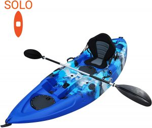 "KC Brooklyn Kayak Company UH-FK184 9'2"" Sit on Top Fishing Kayak"