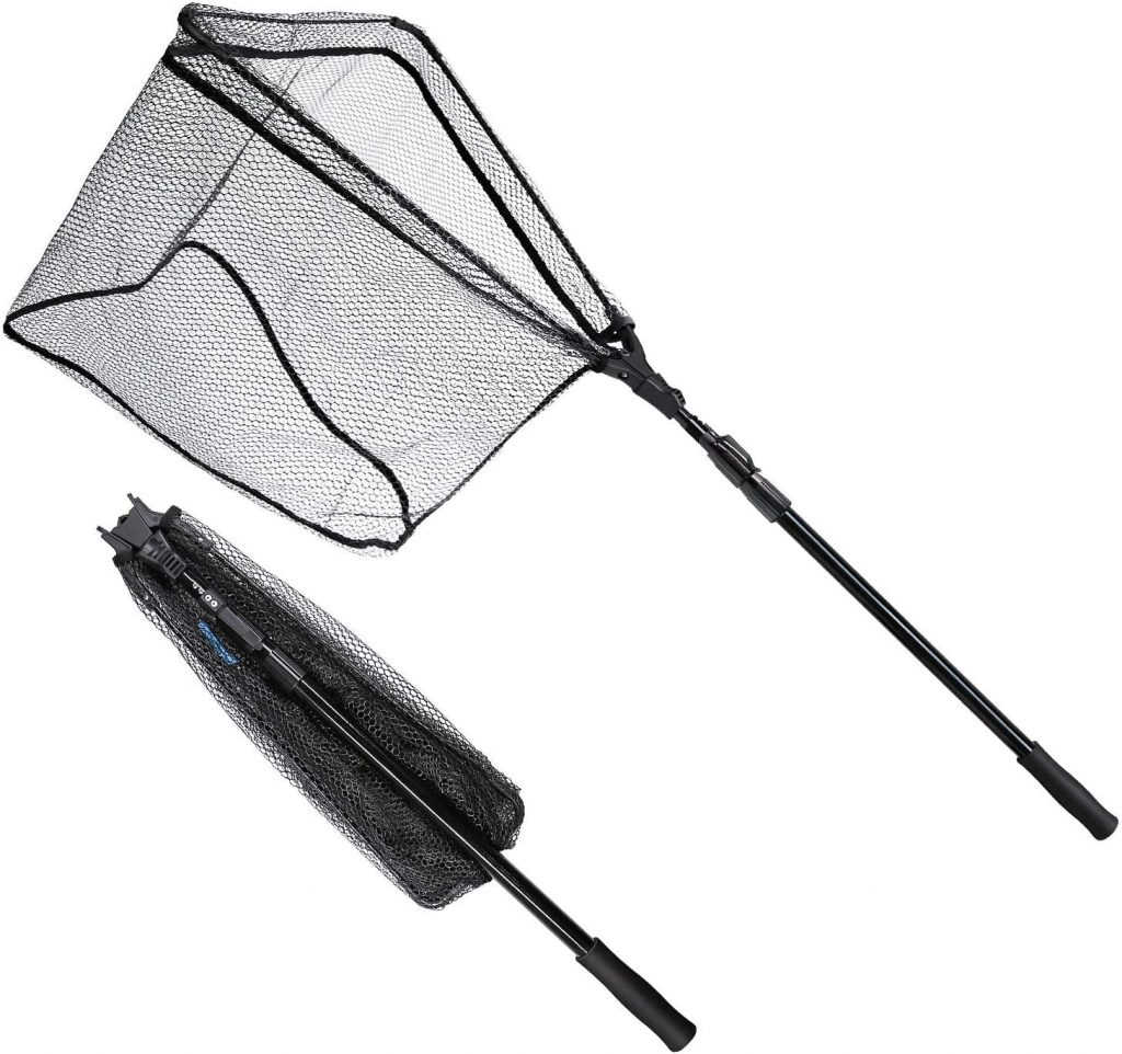 folding landing net with collapsible handle