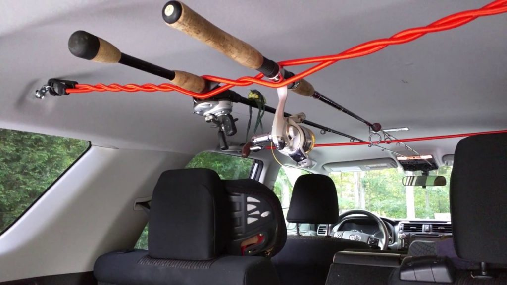 how to transport fishing rod in car
